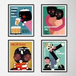 Plakaty Jakuba Zasady (format B2): 50zł